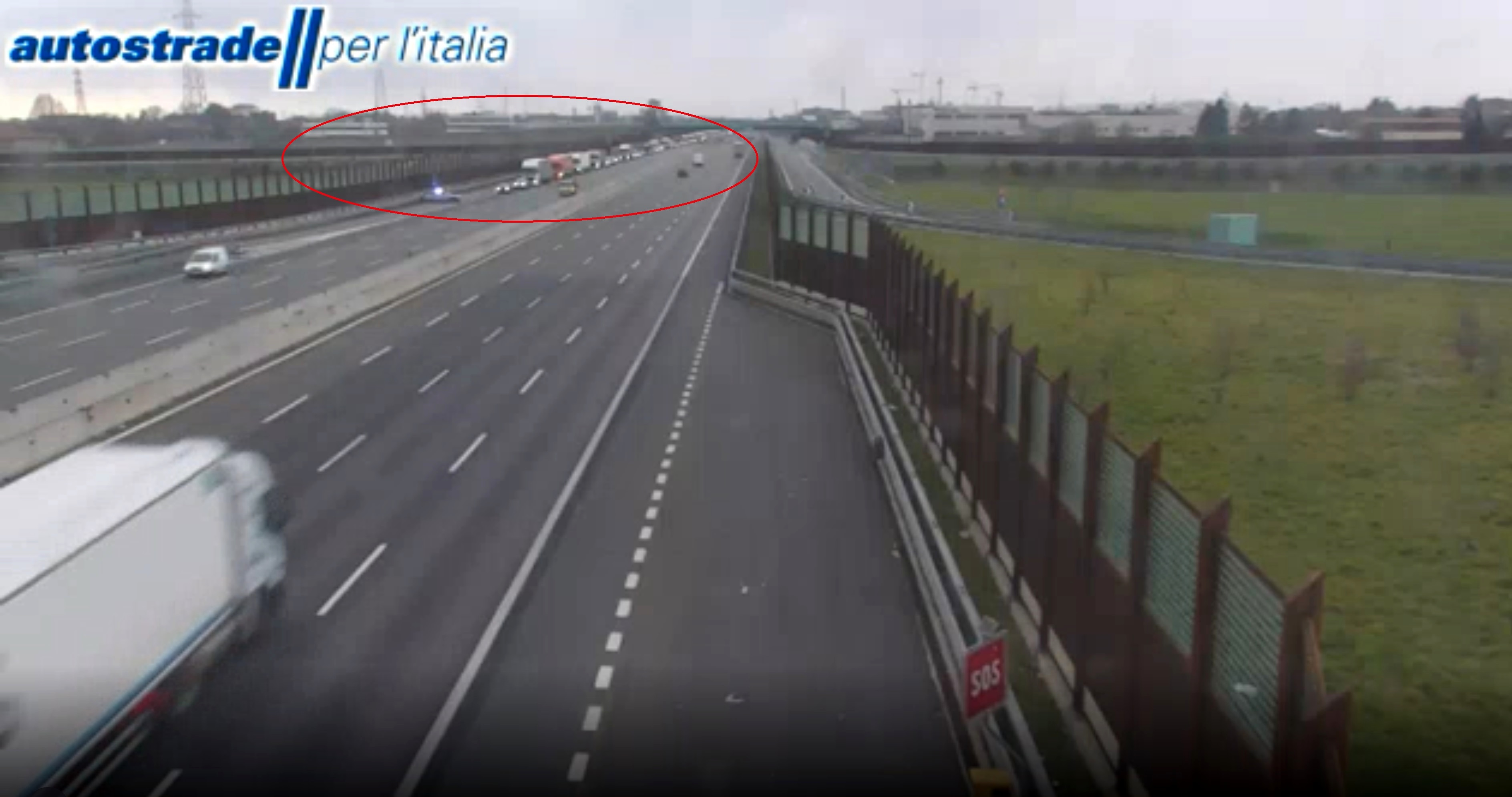 Autostrada uscita obbligatoria polizia