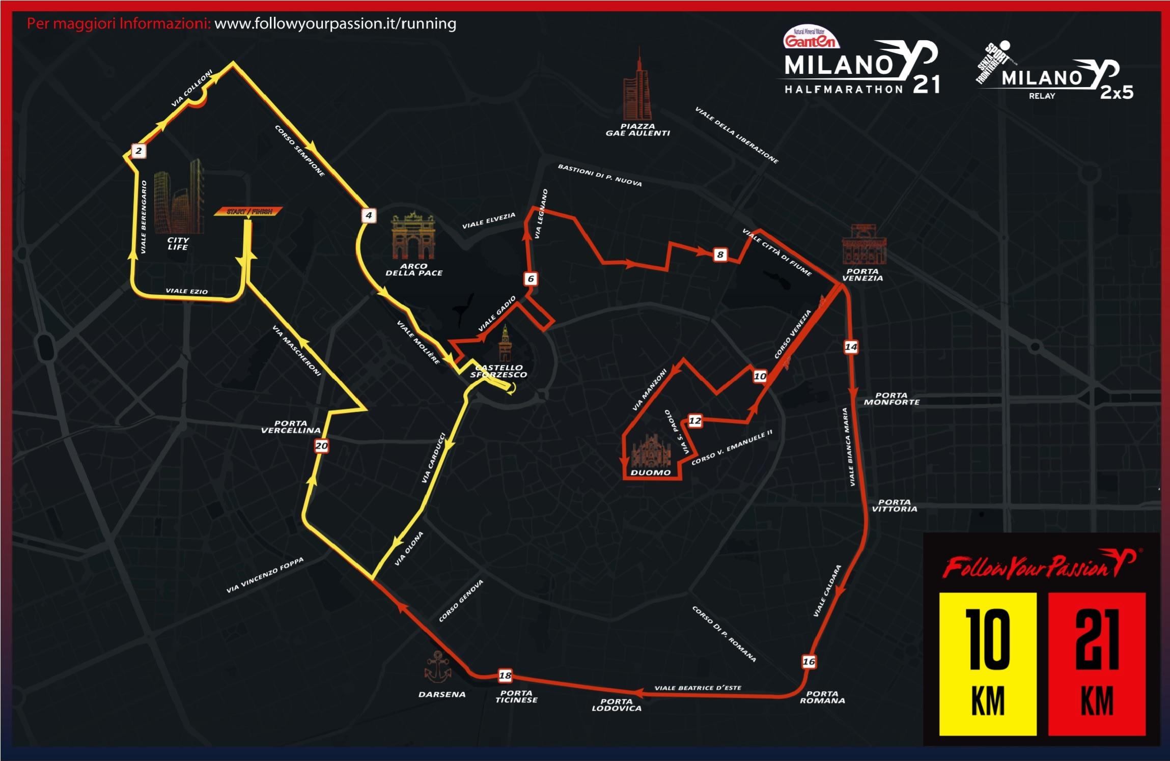 Percorso mezza maratona 24 novembre-2