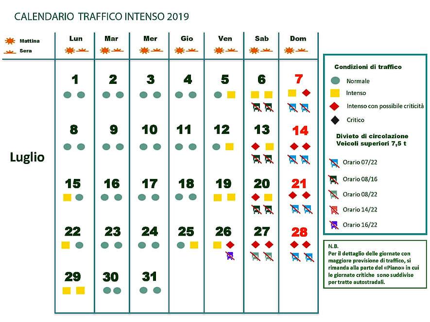 Calendario Traffico Autostrade.Previsioni Traffico Autostrade Quali Sono I Weekend Bollino