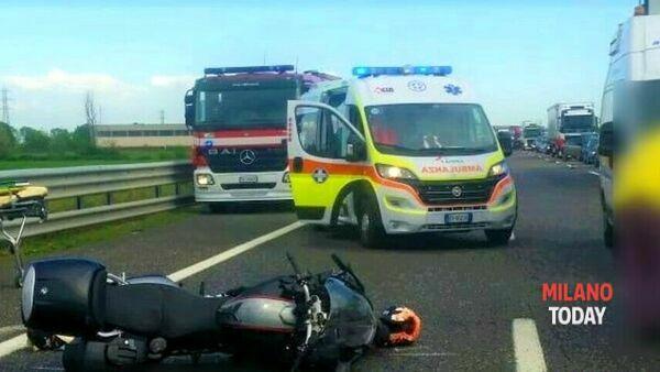 L'incidente. Foto IlPiacenza