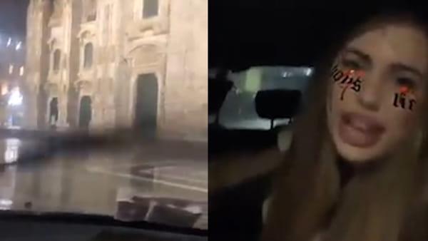 Milano, la bravata dell'influencer: in auto in piazza Duomo e si fa beffe delle forze dell'ordine