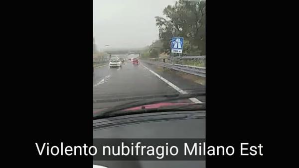 Grandine e allagamenti a Milano Est: ancora un nubifragio. Video
