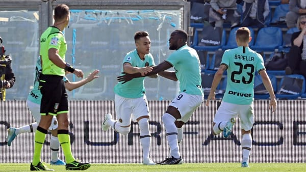 Video gol e sintesi partita Sassuolo-Inter 3-4: gol di Lautaro Martinez e Lukaku