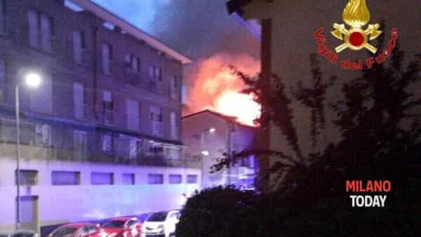 Incendio via Scanini - 2
