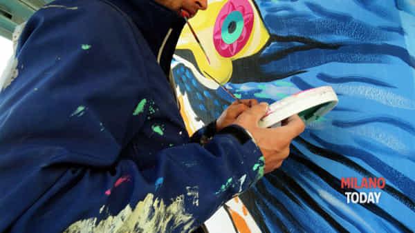 Worldrise onlus e l'artista Iena Cruz doneranno alla città di Milano un eco-murale mangia smog