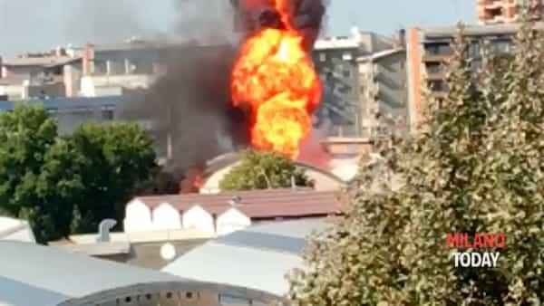 VIDEO | Esplosione in una fabbrica di cannabis light a Trezzano sul Naviglio: tre feriti