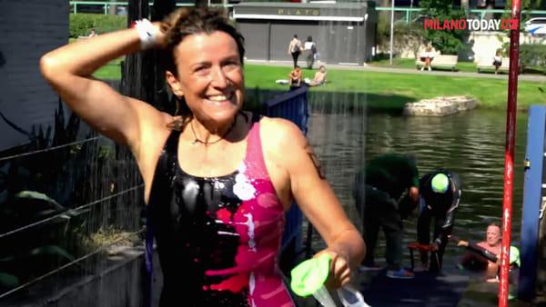 Tutti in acqua per la 'Gran fondo del naviglio': la gara di nuoto nel canale di Milano