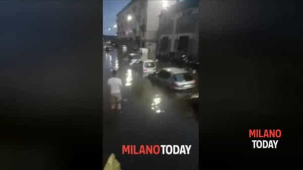 """Nubifragio, via Mambretti sott'acqua per la seconda volta in 10 giorni: """"Sembra Venezia"""""""