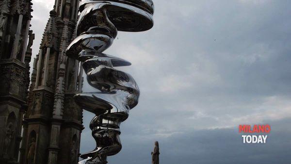 Opere d'arte moderne sulla Terrazza del Duomo