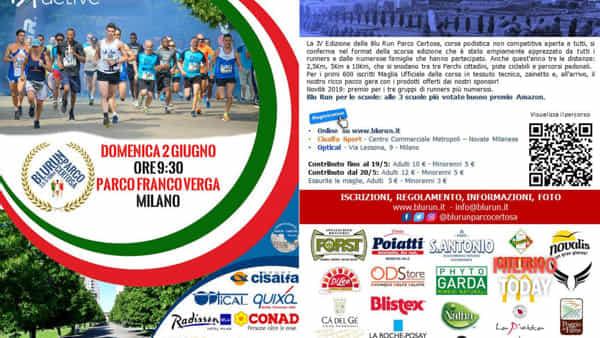 Blu run parco Certosa