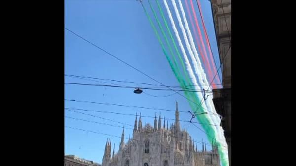 Frecce tricolori, la spettacolare esibizione sopra la Lombardia lunedì 25 maggio