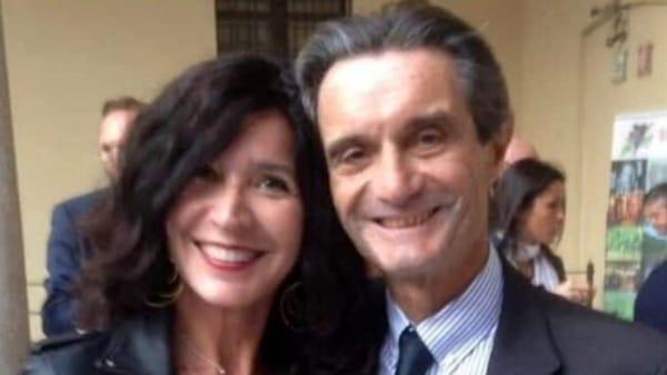 Patrizia Baffi (con il presidente di Regione Lombardia Attilio Fontana)
