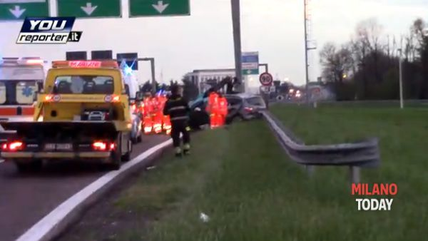 incidente agrate (Frame da video Youreporter)