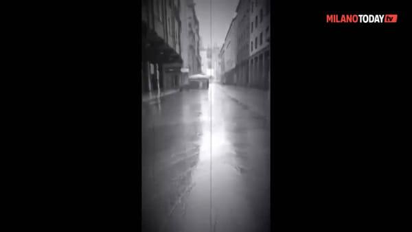 Una passeggiata da piazza San Babila fino in Duomo in una Milano deserta: il video è struggente
