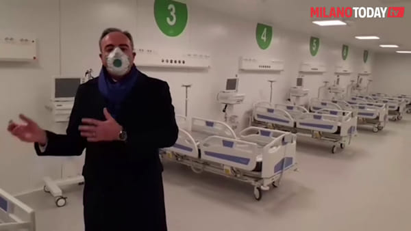 Covid-19, pronta la nuova terapia intensiva a Fiera Milano: il video dell'assessore Gallera