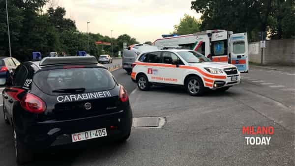 Incidente a Bresso - Carabinieri e Ambulanza - Bennati