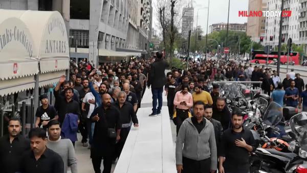 Milano, stazione Centrale: musulmani in corteo per la festa sacra dell'Ashura