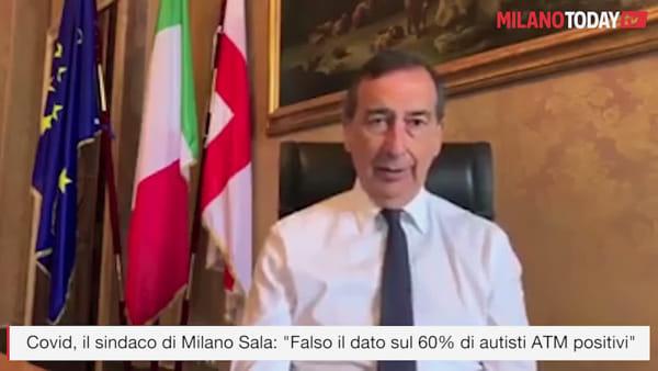 """Covid, il sindaco Sala: """"Iniziati i test sierologici sugli autisti Atm, falso il dato del 60% positivi"""""""