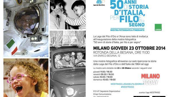 """""""50 anni di storia d'Italia, per filo e per segno"""": nuova mostra fotografica alla Rotonda della Besana"""