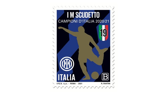 A stamp dedicated to Inter was printed thumbnail