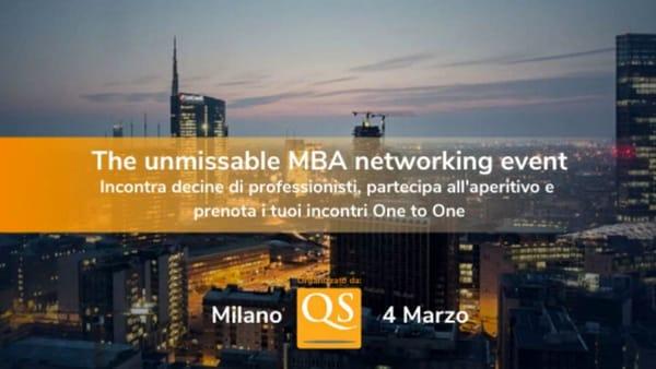 Il più grande evento MBA a Milano: QS Connect MBA
