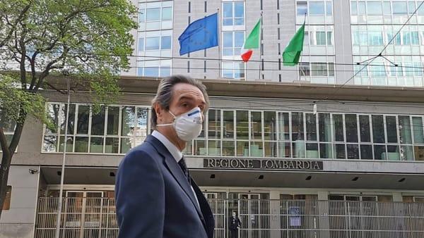 """Fontana sfida l'opposizione: """"Rispondo solo ai lombardi, perseguo il bene dei miei cittadini"""""""