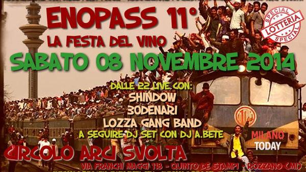 """""""Enopass 11° edizione. La Festa del vino"""": sabato 08 novembre a Rozzano"""