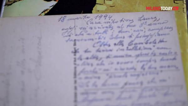 Milano, restituita alla nipotina la cartolina della bis nonna ritrovata dentro un libro usato