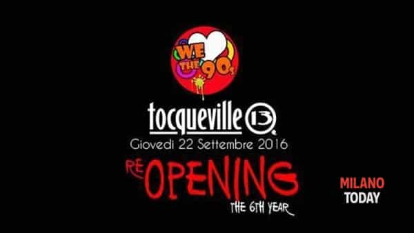 Tocqueville reopening party Welovethe90s