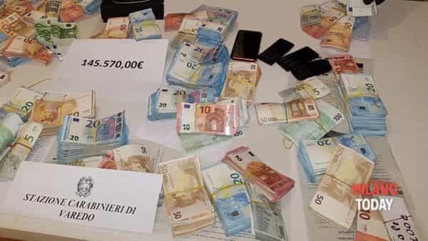 I soldi e la droga sequestrati