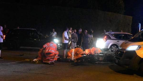 L'incidente (foto Bennati)