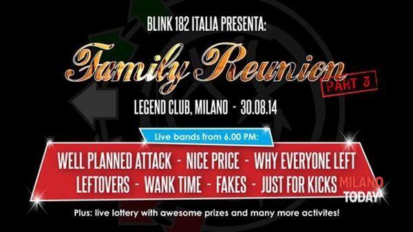 """""""Family reunion part 3"""" di Blink 182 Italia: la festa più pop-punk dell'estate"""