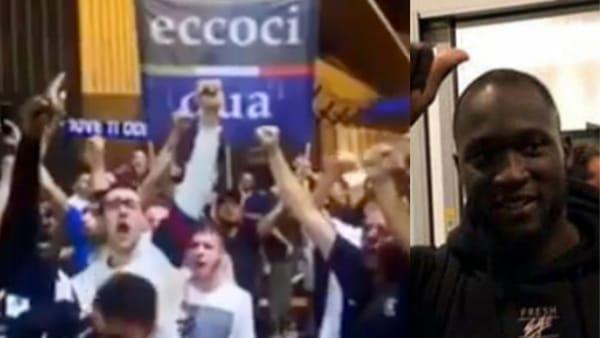 Inter, Lukaku è tuo: 500 tifosi in delirio alla Malpensa alle due di notte. Video