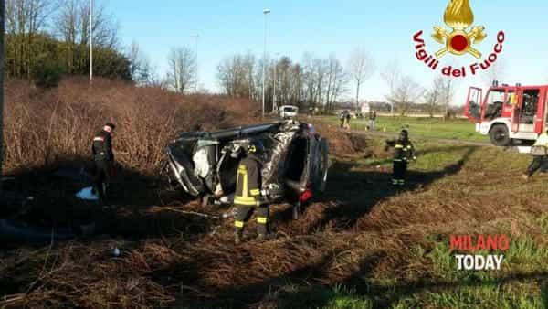 La scena dell'incidente (foto Vvf)
