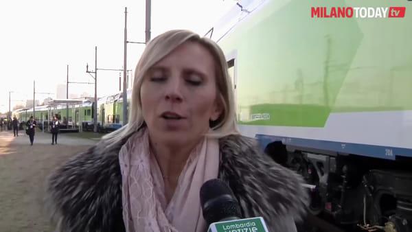 Milano: Trenord inaugura 'Caravaggio', il nuovo treno con wifi e ricariche per bici elettriche