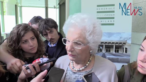 Mattarella al Memoriale della Shoah con Liliana Segre e il sindaco Sala