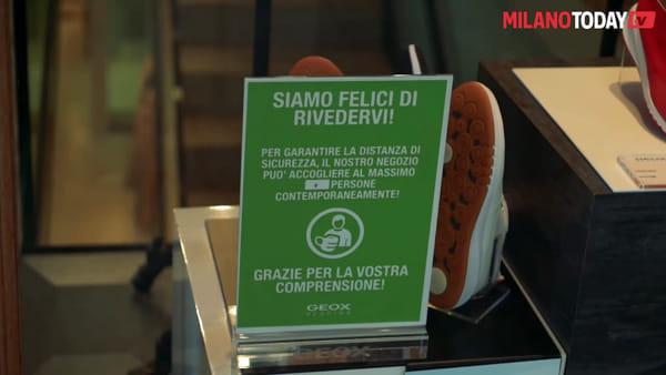 """Milano, i negozi riaprono le serrande: """"Siamo carichi, non potevamo aspettare oltre"""""""