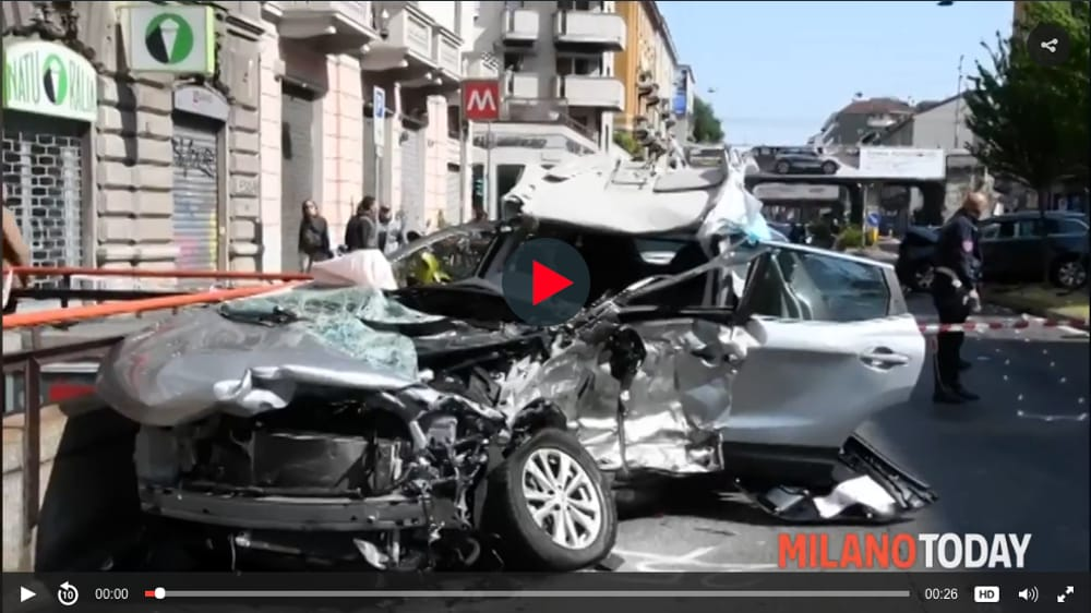 video incidente viale monza foto-2
