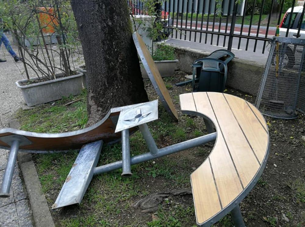 Impianto di telecamere come deterrente di atti vandalici e furti nel parco Ariosto