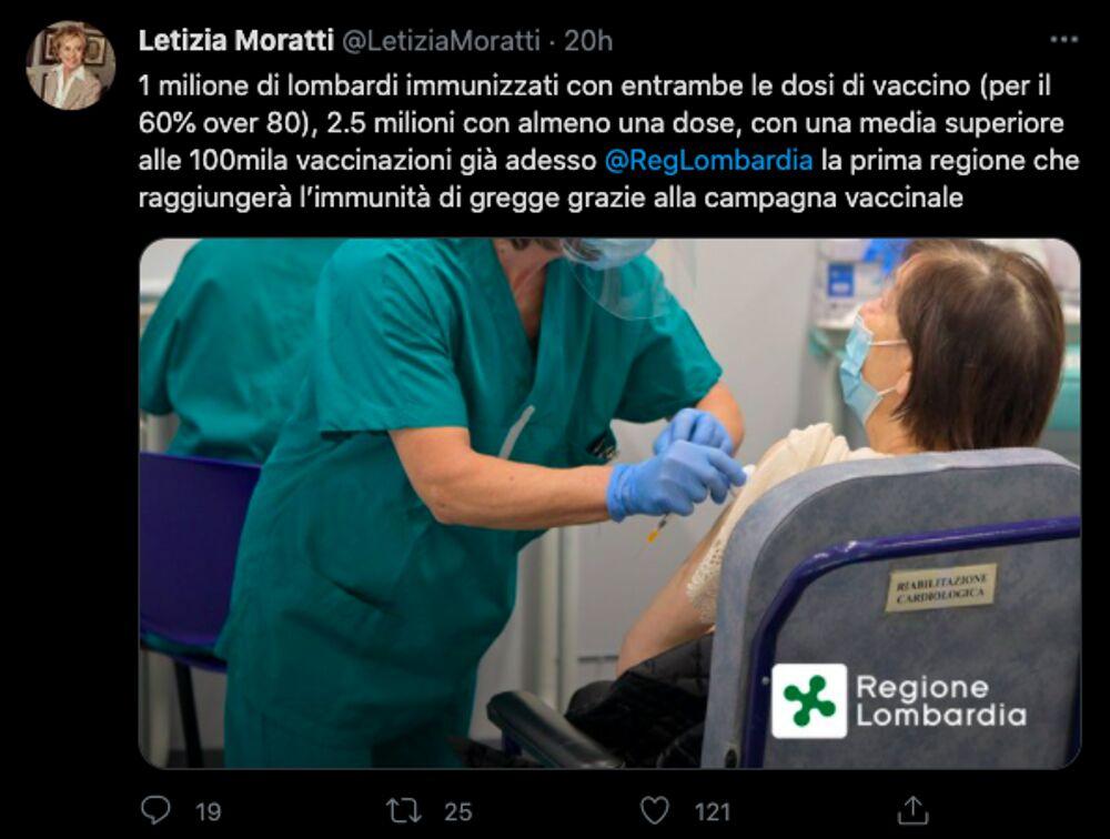 tweet moratti vaccini
