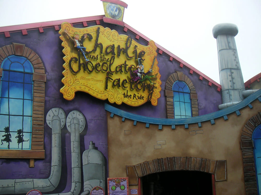 Fabbrica di cioccolato, Alton Towers, UK (da Wikipedia)