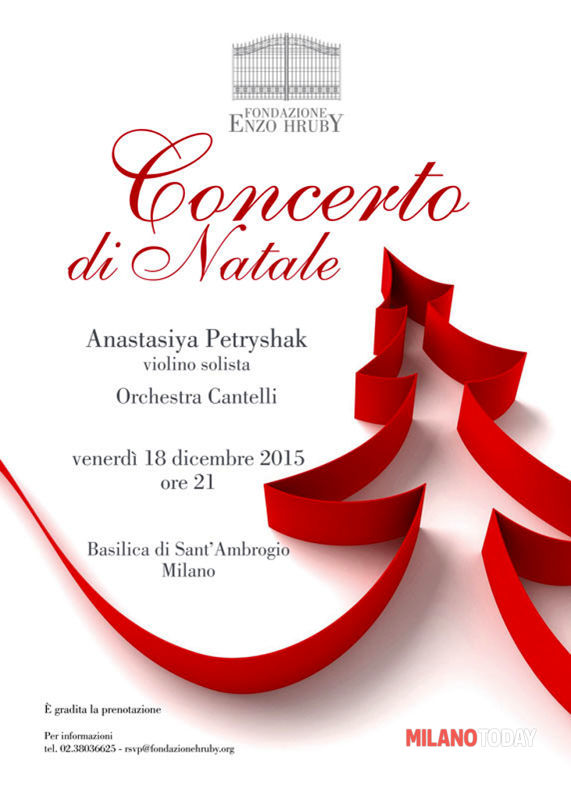 Concerto Di Natale.Concerto Di Natale Il 18 Dicembre Presso La Basilica Di Sant Ambrogio Di Milano Eventi A Milano