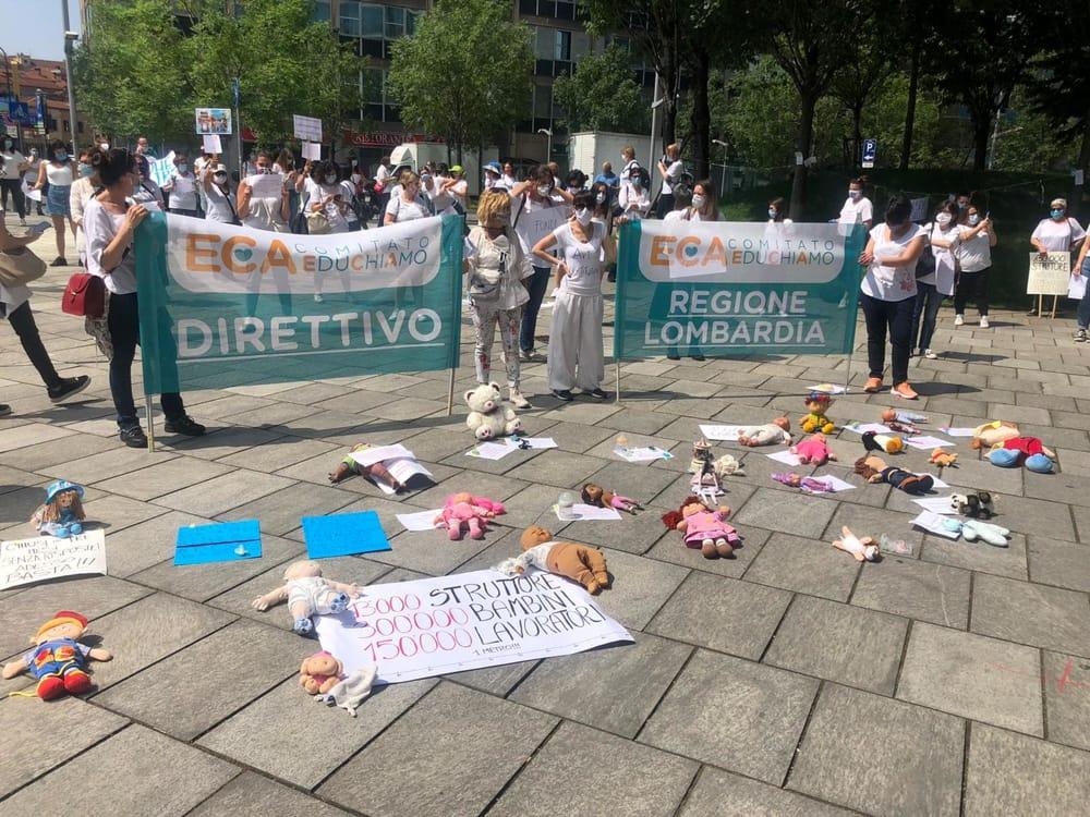 protesta asili milano 2-2