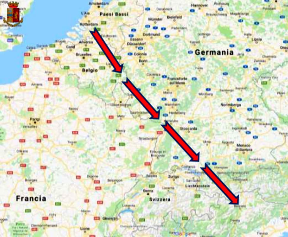 cocaina olanda italia mappa-2