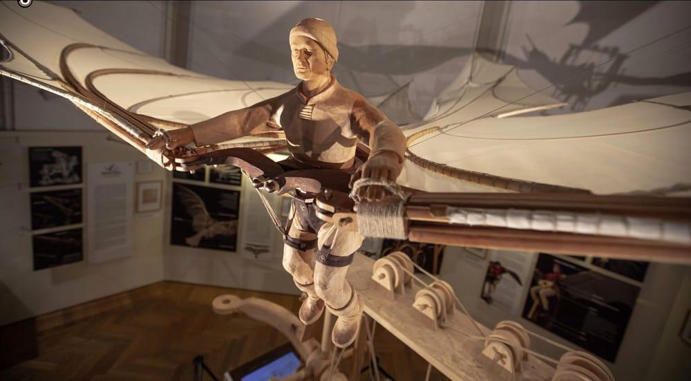 La ricostruzione della macchina di Leonardo (foto Leonardo 3)