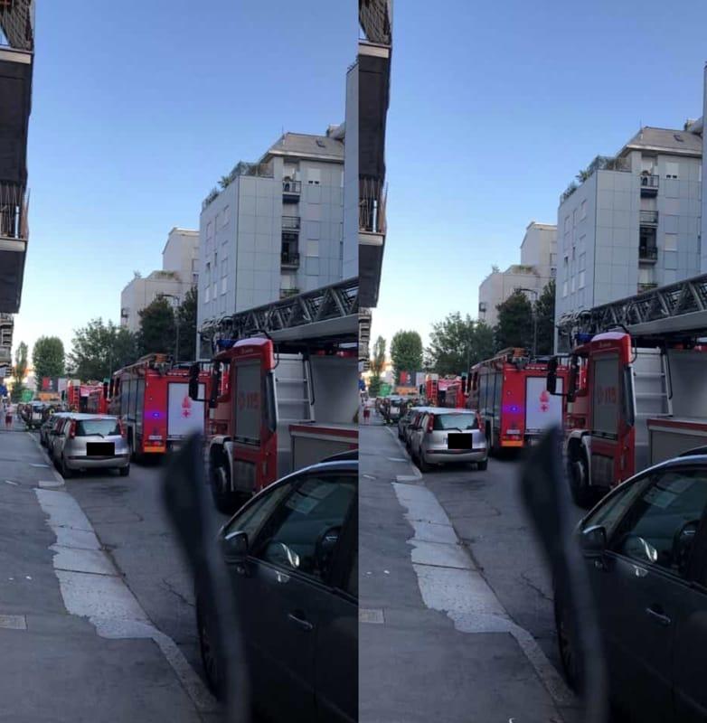 """Via Luigi Prinetti, 28: """"Incendio pizzeria la stiva via ..."""