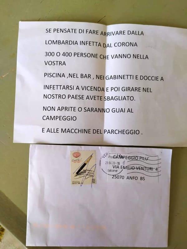 lettera minaccia campeggio-2