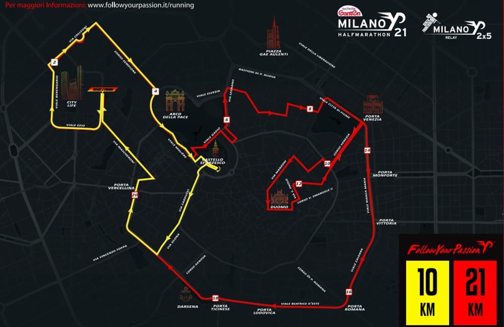 percorso gara milano 21-2