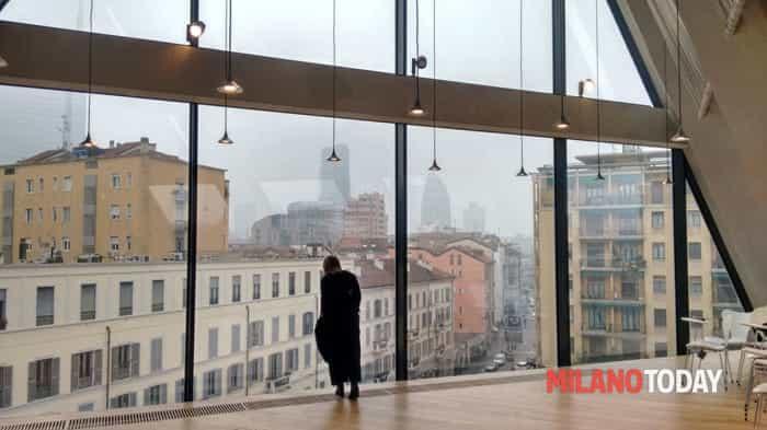 L'ultimo piano dell'edificio(foto Ilaria De Micheli)