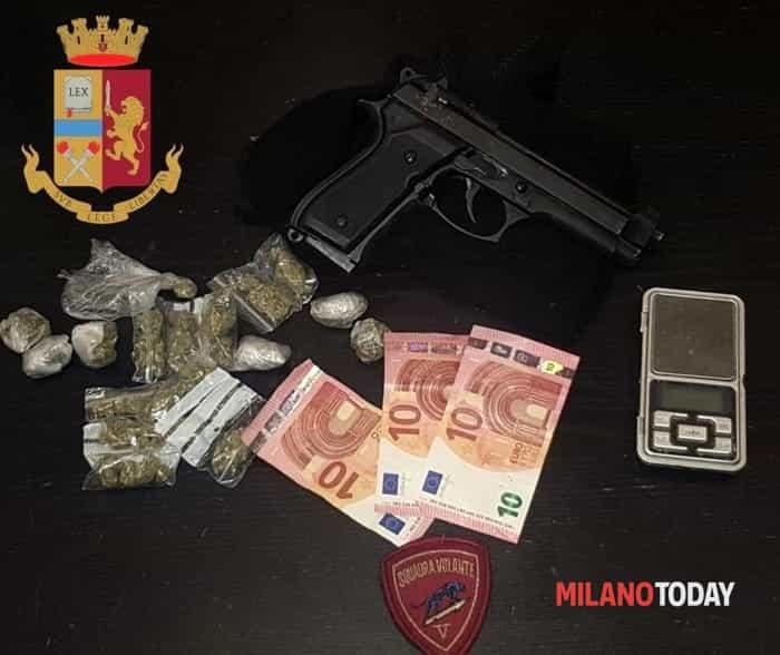 droga pistola polizia